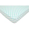 American Baby Company Percale 100% Cotton Aqua Sea Waves Fitted Crib Sheet