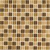 """Interceramic Shimmer Blends 1"""" x 1"""" Ceramic Mosaic Tile in Desert"""
