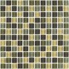 "Interceramic Shimmer Blends 1"" x 1"" Ceramic Mosaic Tile in Ocean"