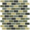 Interceramic Shimmer Blends Ceramic Mosaic Tile in Ocean