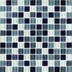 "Interceramic Shimmer Blends 1"" x 1"" Ceramic Mosaic Tile in Shadow"