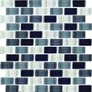 Interceramic Shimmer Blends Ceramic Mosaic Tile in Shadow