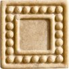 "Marazzi Romancing the Stone 2"" x 2"" Compressed Stone Dot Insert in Ivory (Set of 3)"