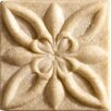 "Marazzi Romancing the Stone 2"" x 2"" Compressed Stone Floral Insert in Ivory (Set of 3)"