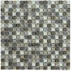 Marazzi Crystal Stone II Glass Mosaic Tile in Pewter