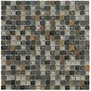 Marazzi Crystal Stone II Glass Mosaic Tile in Slate