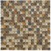 Marazzi Crystal Stone II Glass Mosaic Tile in Terracotta