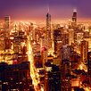 Eurographics High Above Chicago Photographic Print on Glass