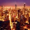 Eurographics Glasbild Hoch Über Chicago Fotodruck