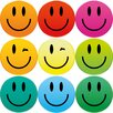 Eurographics Smiley Magnets (Set of 9)