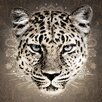 Eurographics Leinwandbild Strass Leopard, Grafikdruck