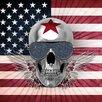 Eurographics Skull Usa by Design Studio Wall Art