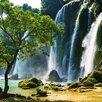 Eurographics Glasbild Waterfall In Vietnam, Fotodruck