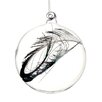 Tori Home Regal Peacock Glass Christmas Ball Ornament with Faux Feather