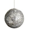 Tori Home Mirror Beaded Glass Ball Christmas Ornament