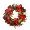 Tori Home Peony and Sedum Floral Unlit Artificial Christmas Wreath