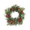 "Tori Home 24"" Artificial Berry Pine Cone and Eucalyptus Leaf Long Needle Pine Christmas Wreath"