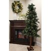 Tori Home Woodland 5' Alpine Artificial Christmas Tree 150 Clear Lights