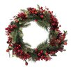 Tori Home Raspberry Pine Artificial Christmas Wreath