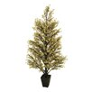 Tori Home 3.7' Potted Gold and Black Glittered Berry Christmas Tree