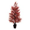 Tori Home Potted Glittered Berry Christmas Tree