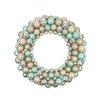 "Tori Home 24"" Pastel Dreams Seafoam Glitter Shatterproof Christmas Ball Ornament Wreath"