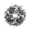 Tori Home Pre Decorated Snowy Flocked Ball Artificial Christmas Wreath