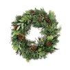 "Tori Home 30"" Lighted Artificial Pine Cone Berry Cedar and Pine Christmas Wreath"