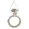 Tori Home Diva Jewel Encrusted Single-Band Wedding Ring Christmas Ornament