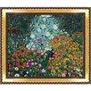 Tori Home Flower Garden by Gustav Klimt Framed Original Painting