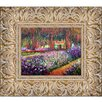 Tori Home Artist's Garden at Giverny by Claude Monet Framed Original Painting