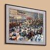 Tori Home 'Boulevard des Italiens, Morning Sunlight' by Camille Pissarro Framed Original Painting