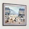 Tori Home 'Avenue De L'Opera, Place du Theatre Francais Misty' by Camille Pissarro Framed Original Painting