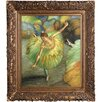 Tori Home Luxury Line 'Dancer Tilting' by Edgar Degas Framed Original Painting on Canvas