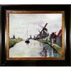 Tori Home 'Windmills in Holland' by Claude Monet Framed Painting Print on Canvas