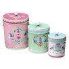 Trade Fair 3-Piece Metal Biscuit Tins Set