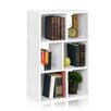 "Way Basics Laguna 36.8"" Eco 3-Shelf Bookcase and Cubby Storage"