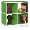 "Way Basics Quad Cubby 24.8"" Eco Bookcase, Stackable Organizer and Storage Shelf"