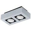 Eglo Loke 2 Light Semi-Flush Ceiling Light