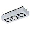 Eglo Loke 3 Light Semi-Flush Ceiling Light