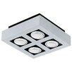 Eglo Loke 4 Light Semi Flush Ceiling Light