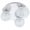 Eglo Prodo 3 Light Semi Flush Ceiling Light