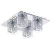 Eglo Pianella 4 Light Flush Ceiling Light