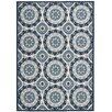 "Waverly Sun n' Shade ""Solar Flair"" Navy Indoor/Outdoor Area Rug"