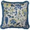 Waverly Imperial Dress Garden Path Striped Reversible Cotton Throw Pillow