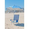 Frankford Umbrellas 6 ft. Diameter Fiberglass Beach Haven Umbrella - Pacific Blue and White Stripe