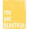 "Children Inspire Design ""You Are Beautiful"" Paper Print"