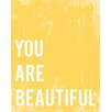 """Children Inspire Design """"You Are Beautiful"""" Gallery Wrapped on Canvas Art"""