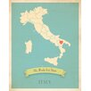 Children Inspire Design My Roots Italy Personalized Map Paper Print