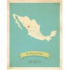 Children Inspire Design My Roots Mexico Personalized Map Paper Print